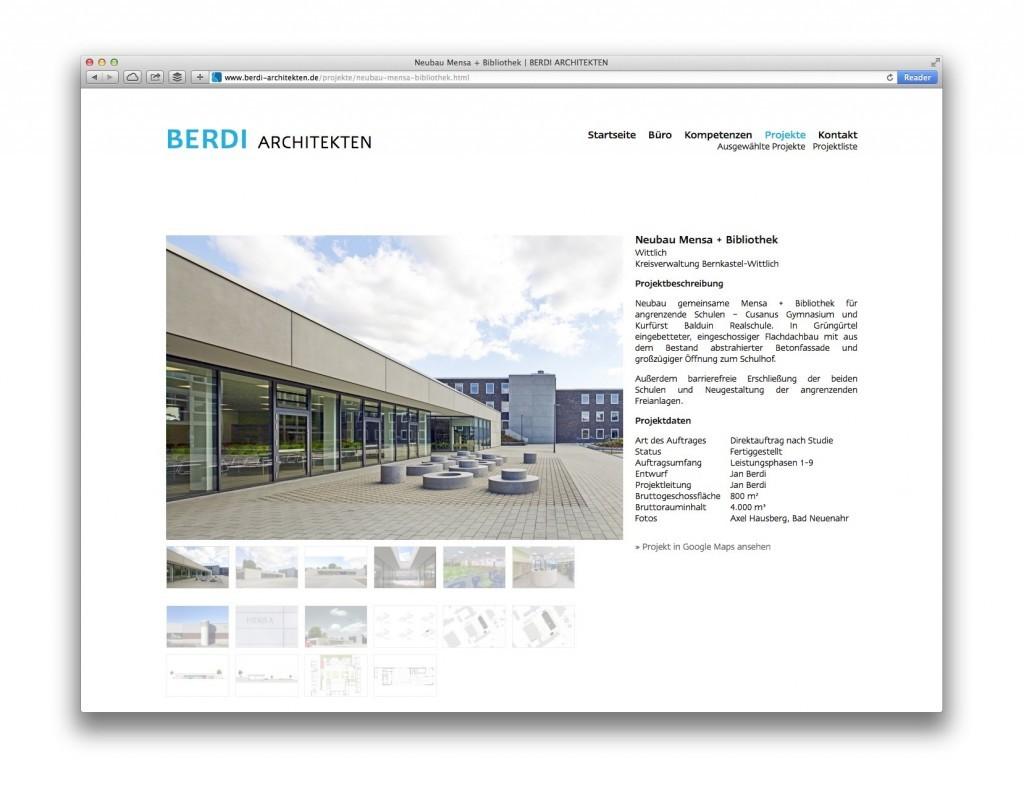 BERDI Architekten, Bernkastel-Kues (Projektseite)