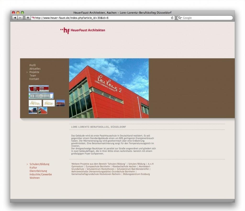 HeuerFaust Architekten, Aachen (Projektseite)