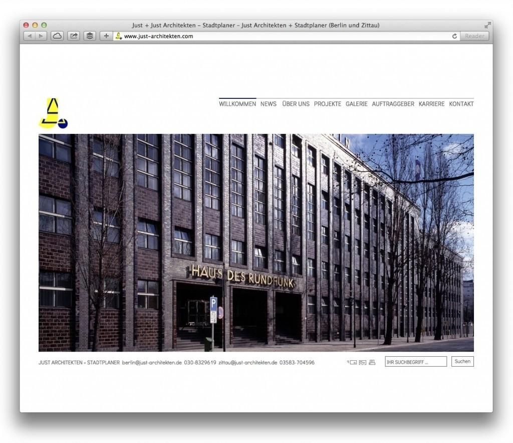 Just Architekten + Stadtplaner, Berlin und Zittau (Startseite)