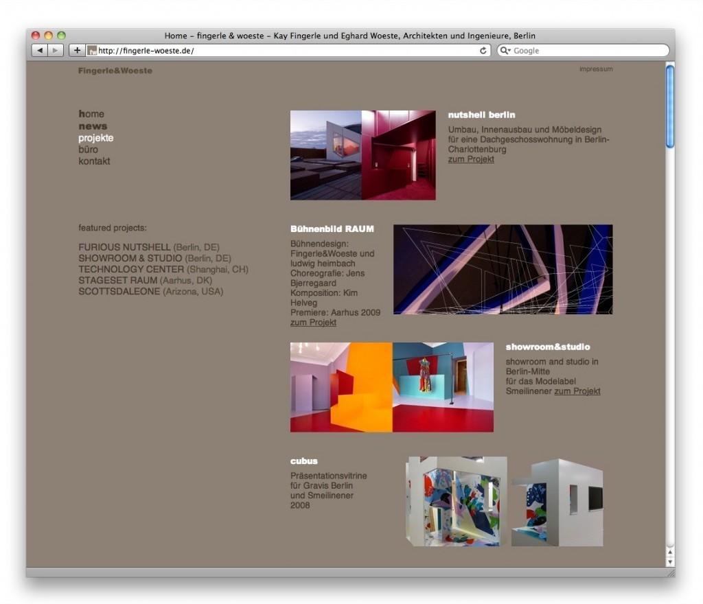 fingerle & woeste Architekten, Berlin (Startseite)