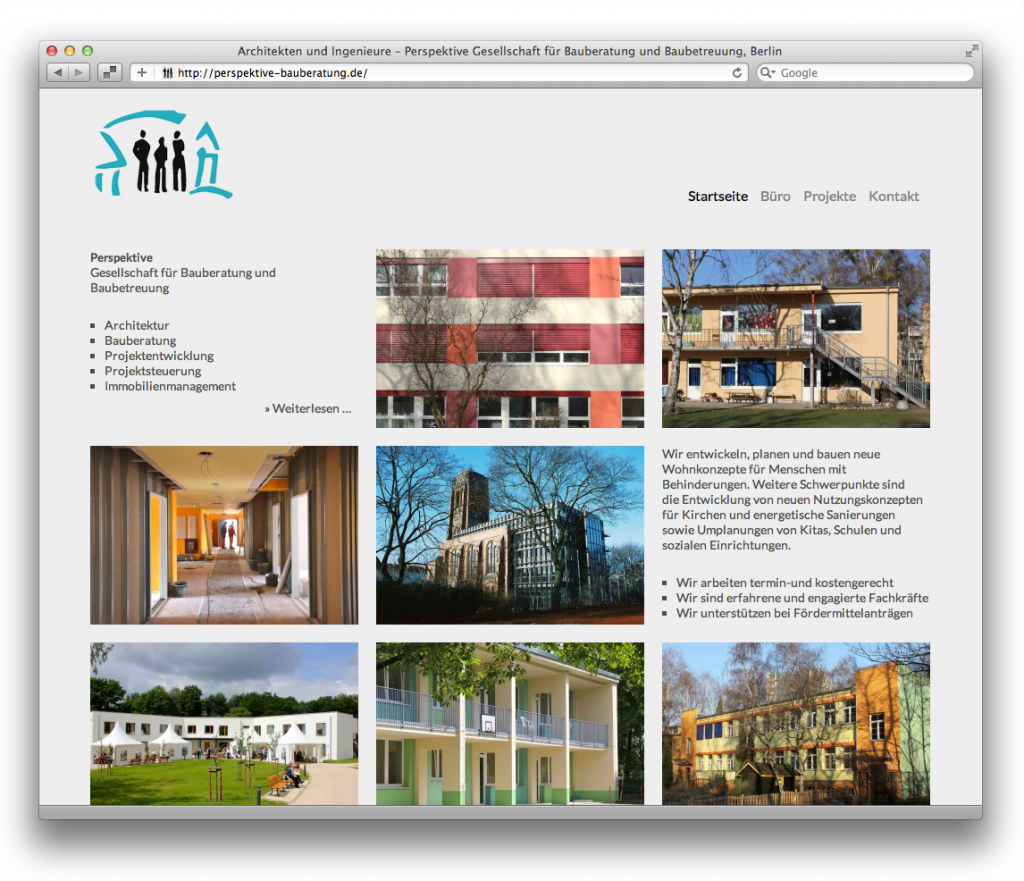 Perspektive Gesellschaft für Bauberatung und Baubetreuung, Berlin (Startseite)