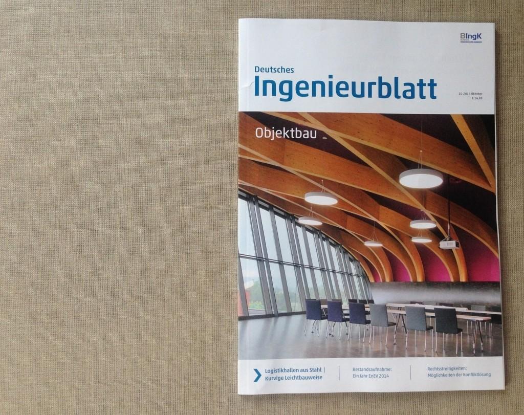 Objektbericht im Deutschen Ingenieurblatt (11/2015): Erweiterung der Europäischen Schule in Frankfurt/Main