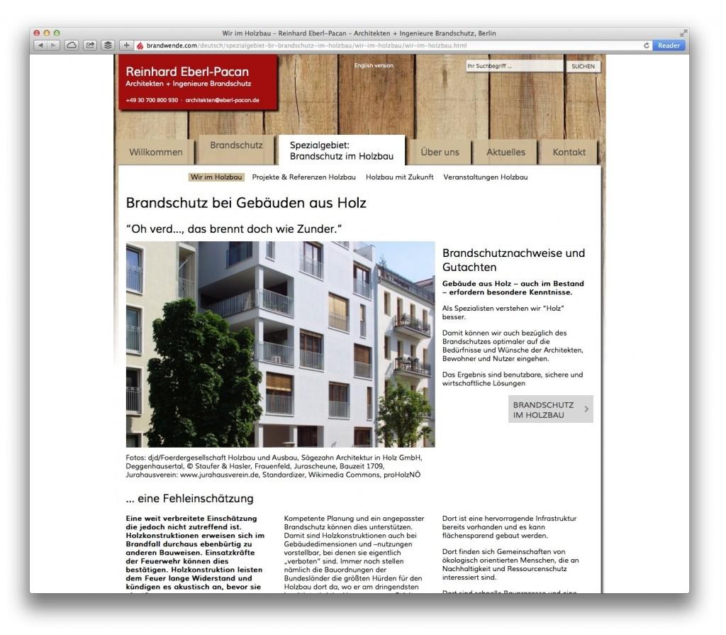 Spezialgebiet: Brandschutz im Holzbau