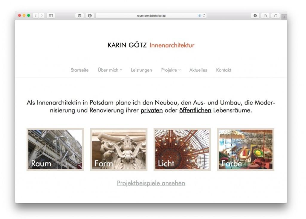 Die Startseite von Karin Götz, Innenarchitektin in Potsdam