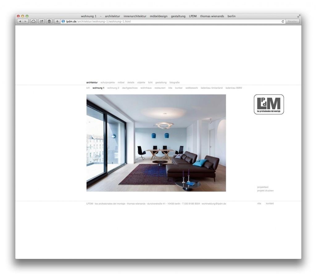 Eine Projektseite auf lpdm.de