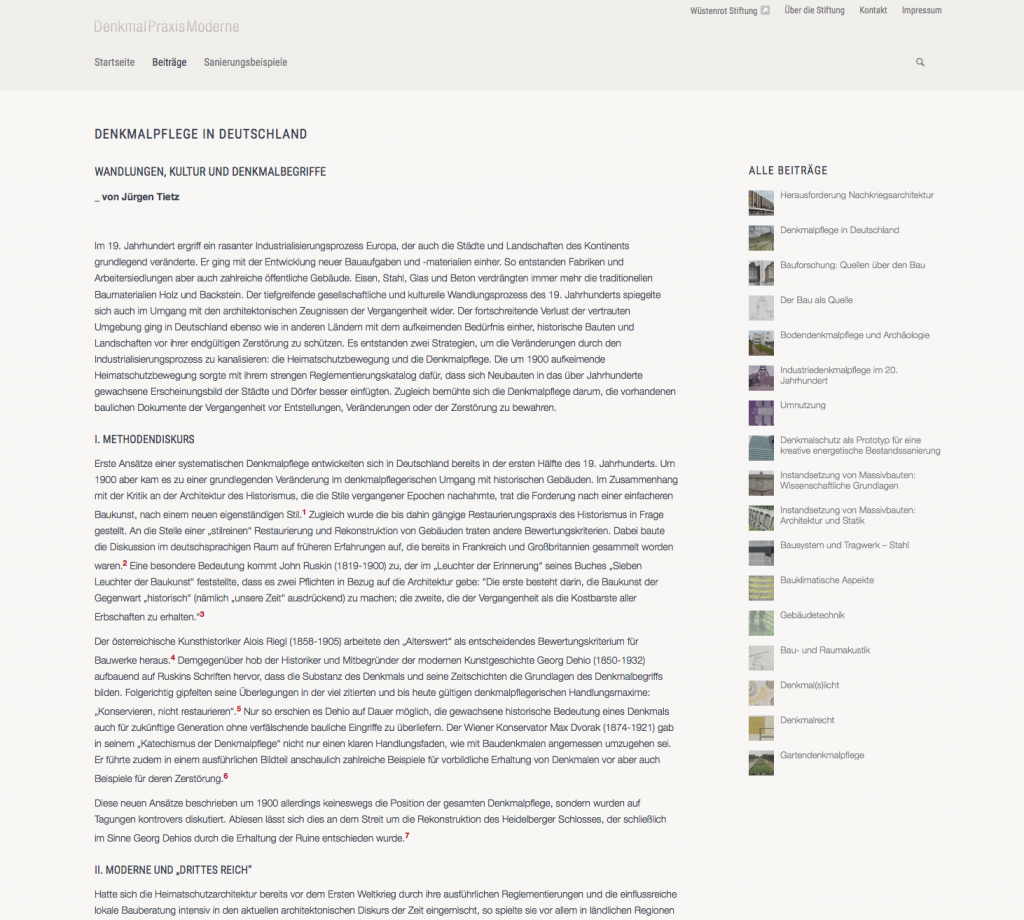 Textlastig und gespickt mit Fußnoten: Ein Fachbeitrag zur Denkmalpflege in Deutschland