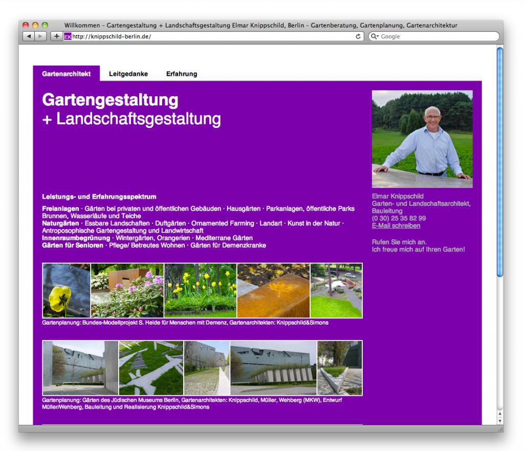 Die Startseite von knippschild-berlin.de
