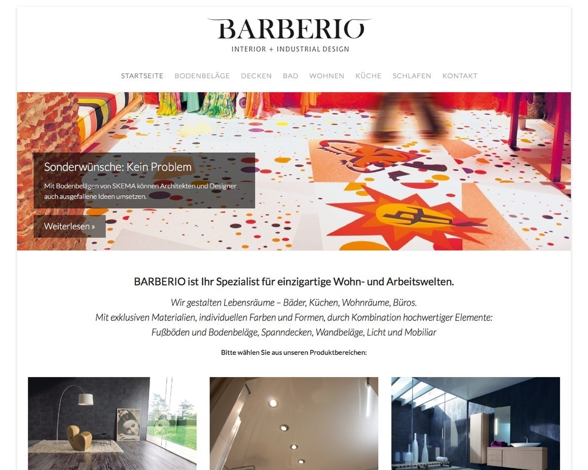 Website-Relaunch für BARBERIO Interior + Industrial Design ...