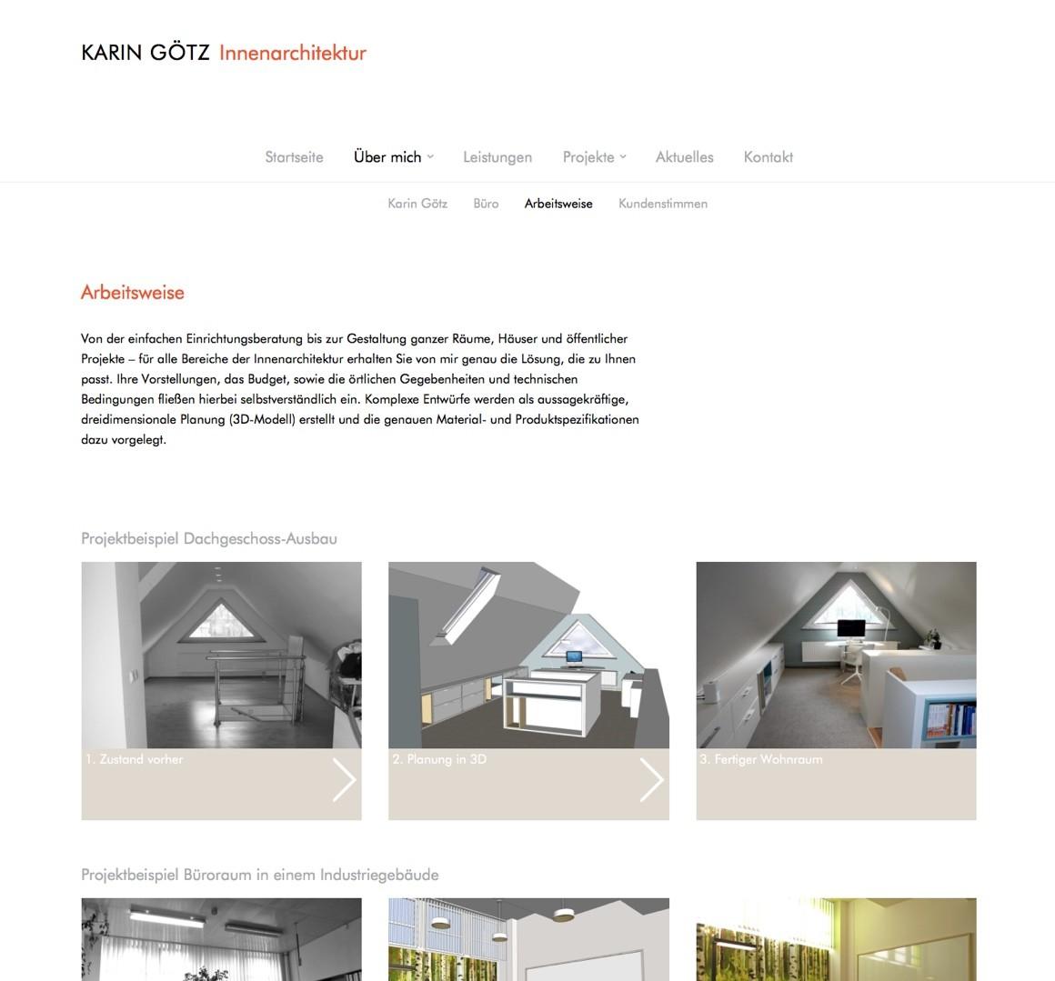 """Die Seite """"Arbeitsweise"""" auf der neuen Website"""