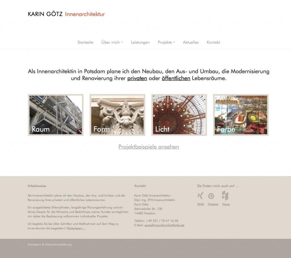 Neue website f r die innenarchitektin karin g tz potsdam for Die innenarchitektin