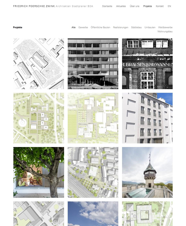 Die Projekte von Friedrich Poerschke Zwink im Überblick (Ausschnitt)