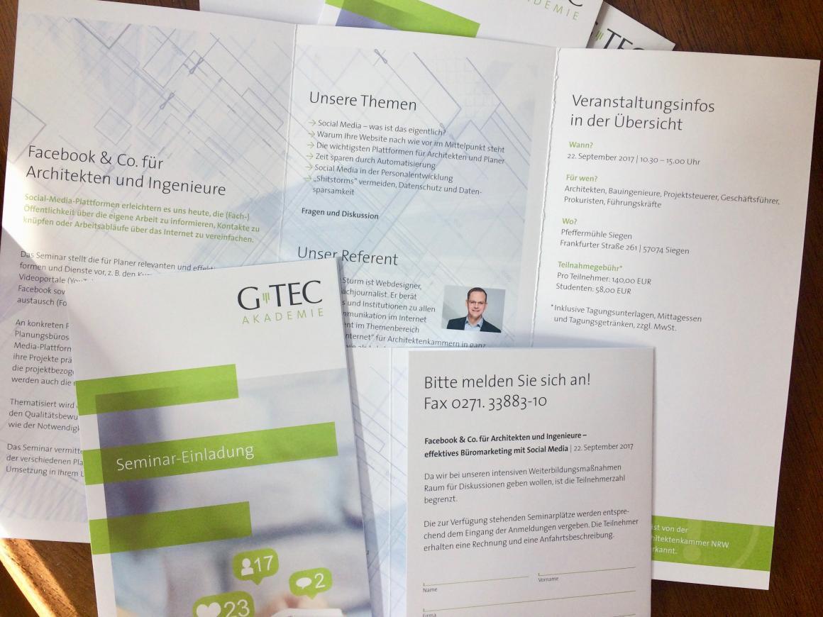 Facebook & Co. für Architekten und Ingenieure - Effektives Büromarketing mit Social Media (Seminar für die G-TEC-Akademie, Siegen)