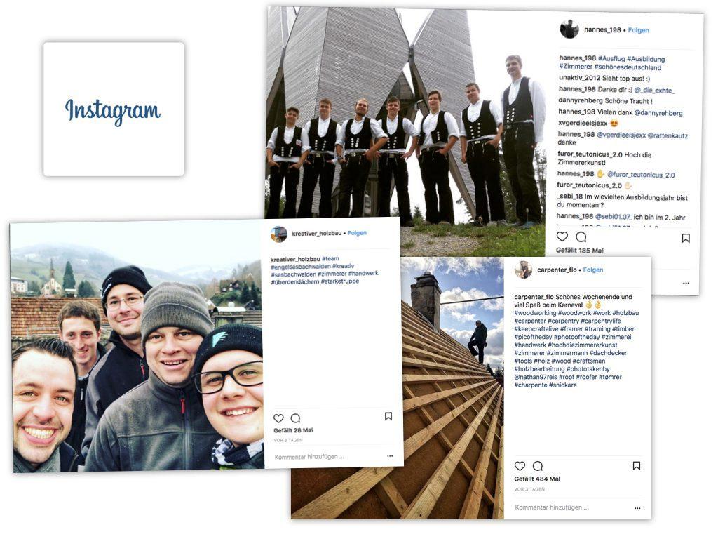 Folie aus meinem Social Media mit Instagram-Beispielen von Handwerksbetrieben