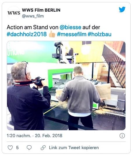 Messefilm-Produktion auf der DACH+HOLZ (Foto: Eric Sturm)