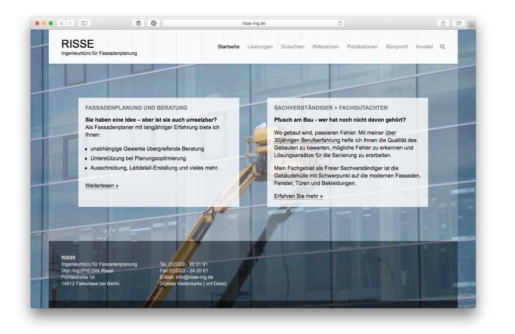 Dirk Risse, Ingenieurbüro für Fassadenplanung, Falkensee