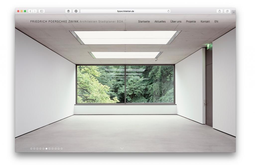 Büro-Website FPZ Architekten, München