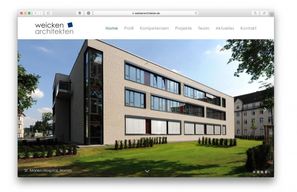 Büro-Website Weicken Architekten, Unna