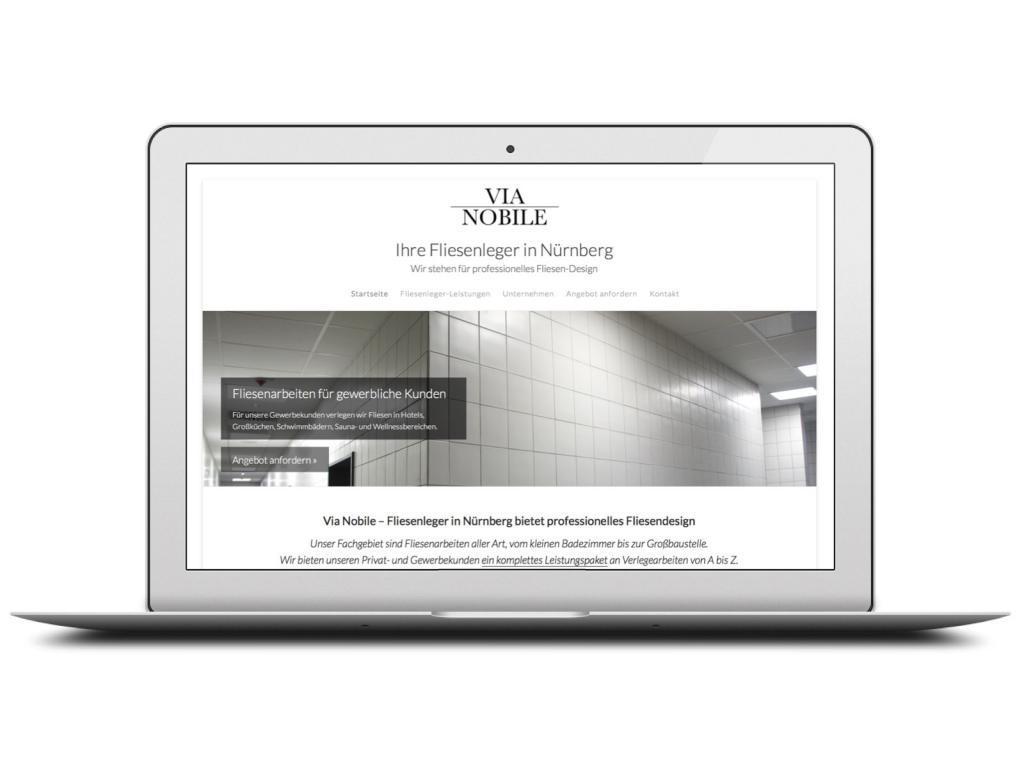 Handwerker-Website für Nürnberger Fliesenleger mit Schwerpunkt auf ...