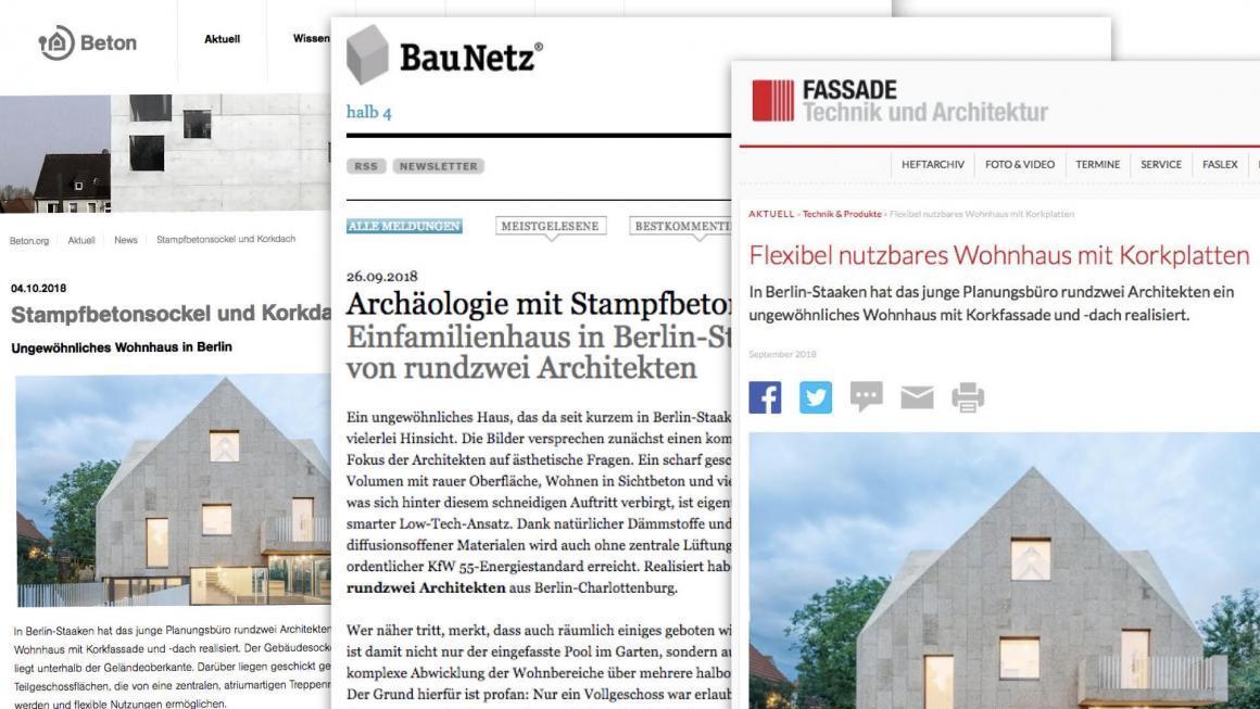 Erfolgreiche Pressearbeit für rundzwei Architekten aus Berlin (Projekt: Korkenzieherhaus)
