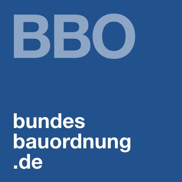 Wortmarke Bundesbauordnung (Design: Eric Sturm)