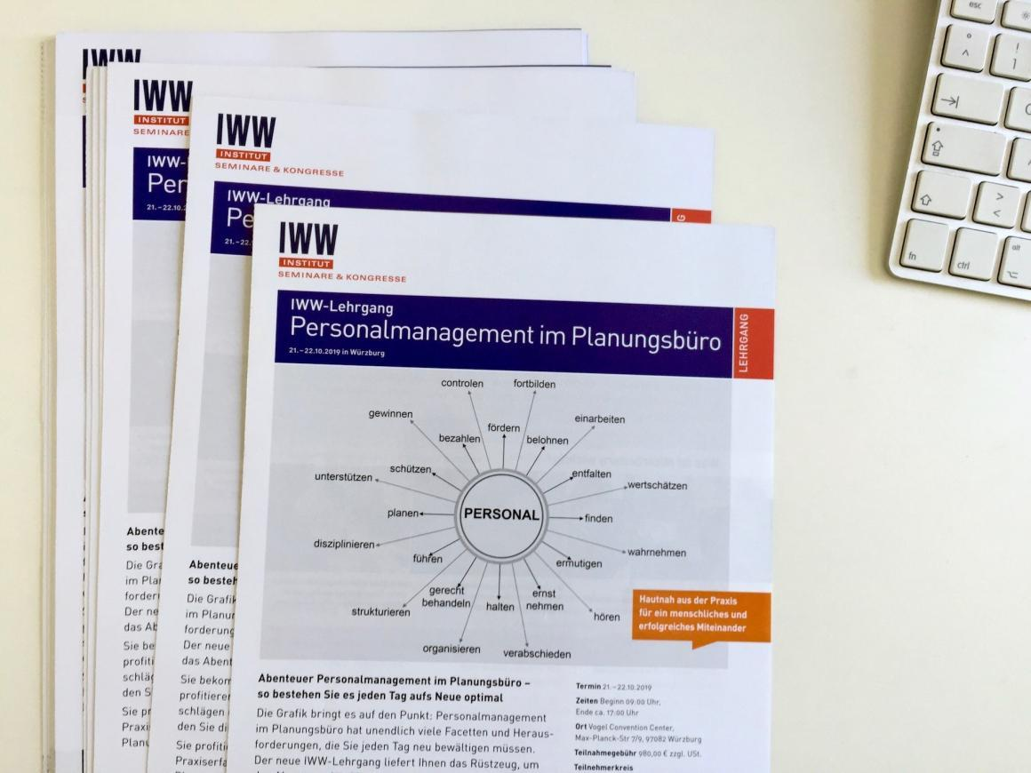 IWW-Lehrgang Personalmanagement im Planungsbüro (Programm-Flyer)