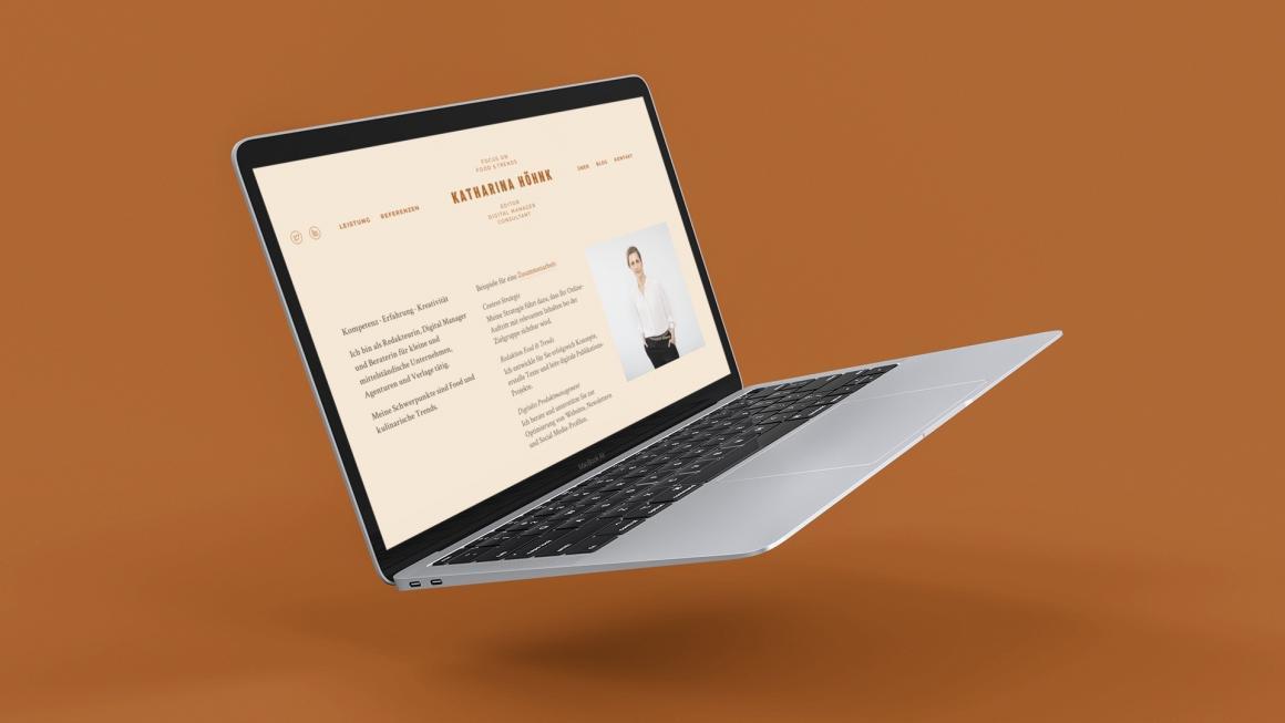 Die neue Website von Katharina Höhnk, Redakteurin, Digital Manager und Beraterin für Unternehmen, Agenturen und Verlage (Screenshot August 2019)