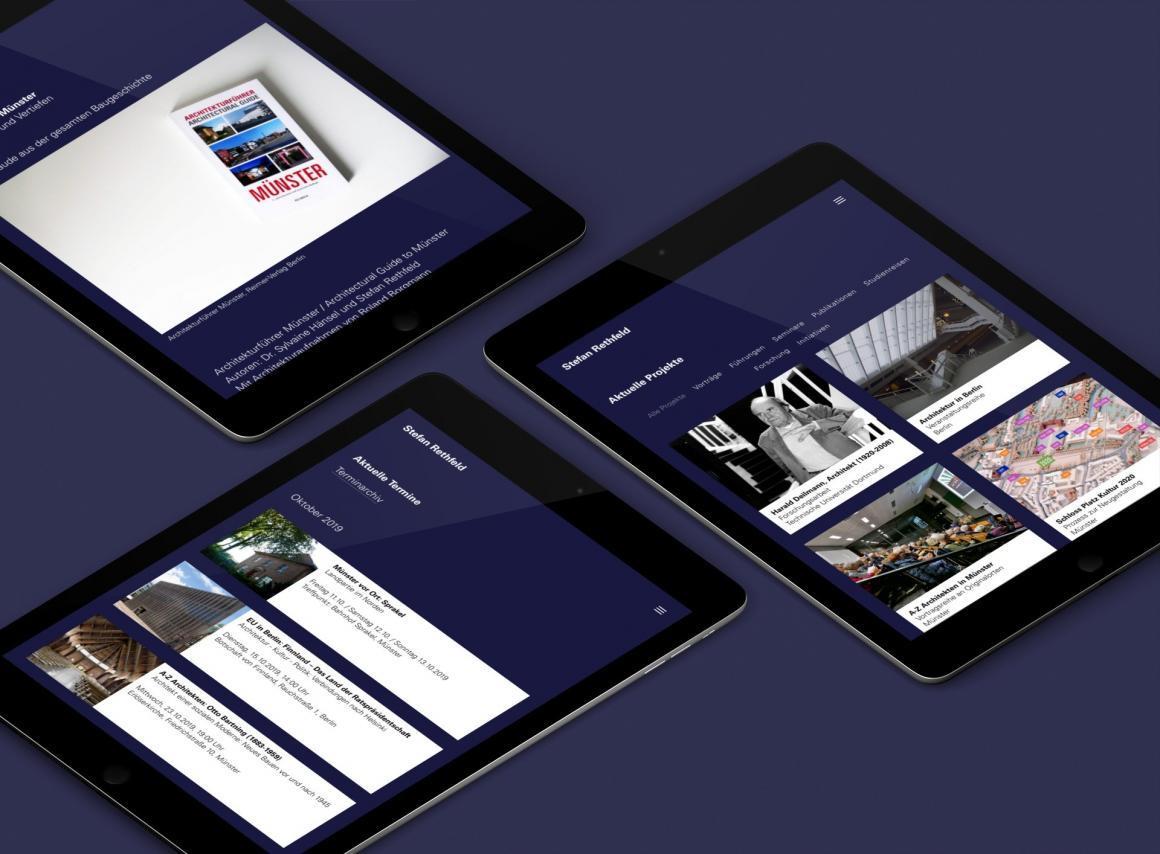 Architekturforschung, Projektentwicklung und Architekturvermittlung: Neue Wordpress-Website von ericsturm.de für Stefan Rethfeld (Screenshots, Oktober 2019)