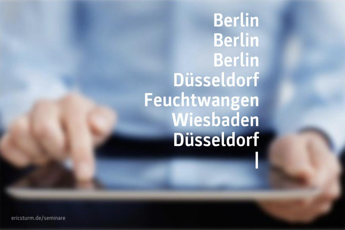 Social Media, Personalgewinnung und SEO für Architekten: Meine Seminartermine 2020