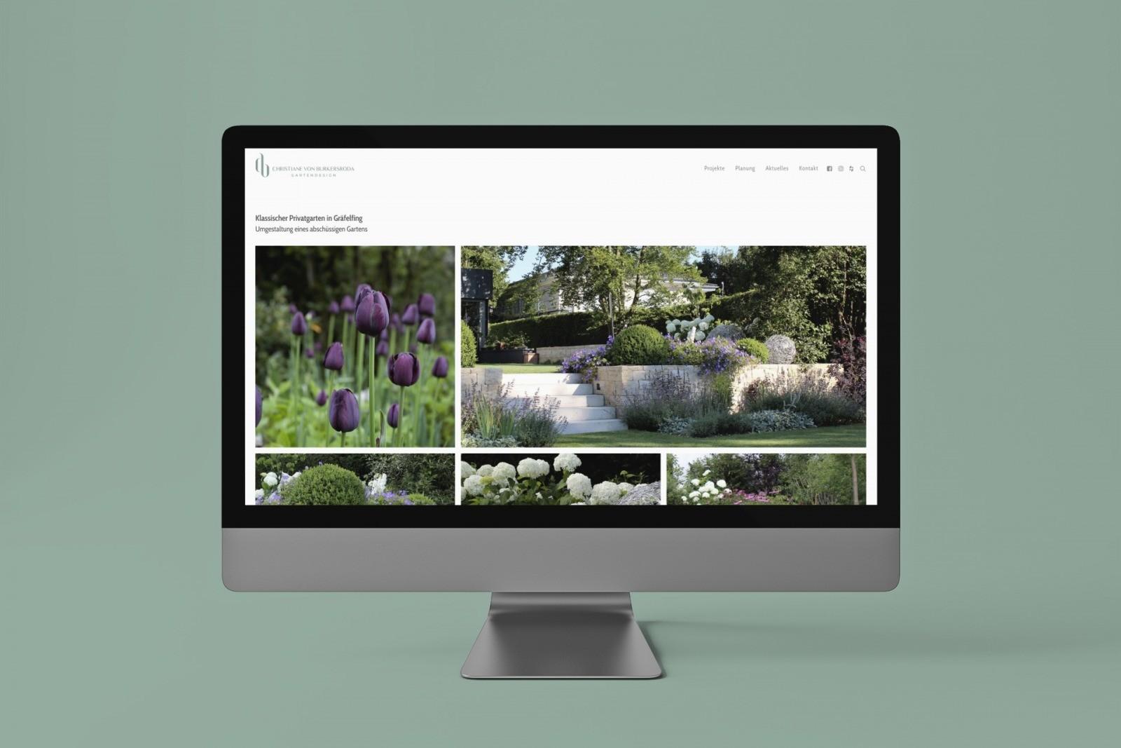 Projektseite zu einem Privatgarten, geplant und realisiert von Christiane von Burkersroda
