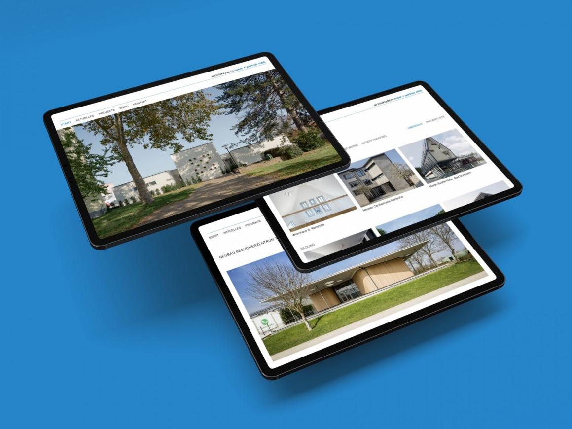 Neue Wordpress-Büro-Website für das architekturbüro ruser + partner aus Karlsruhe (Grafik: Eric Sturm)